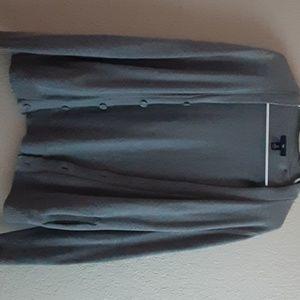 Gap light grey/green detail cardigan